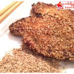 Petto di pollo gratinato al sesamo