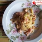 Salmon trout and Zucchini pasta