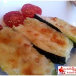 Zucchine semplici ripiene di mozzarella