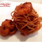 Spaghetti al sugo di gamberi