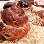 Chiocciole di pane dolce con uvetta