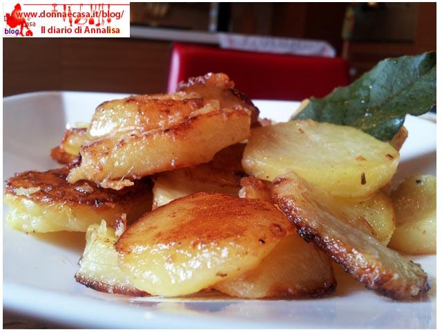 patate gratinate con pecorino ravvicinate