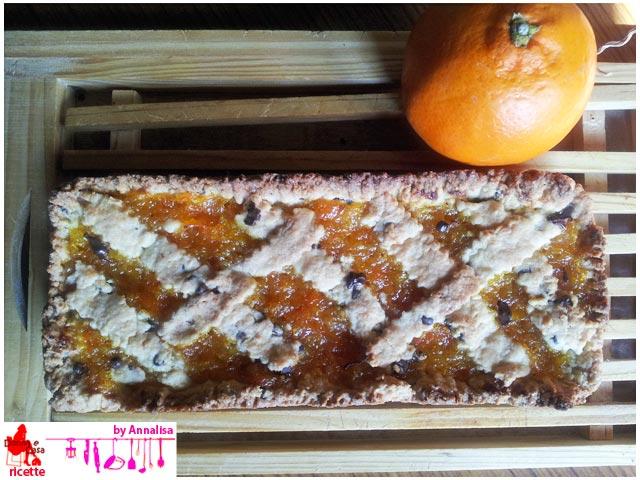 Tart with homemade orange marmalade
