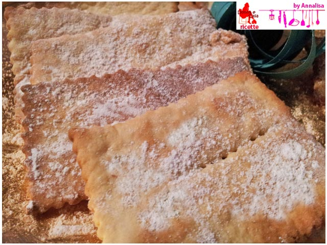 frittelle chiacchiere bugie al forno