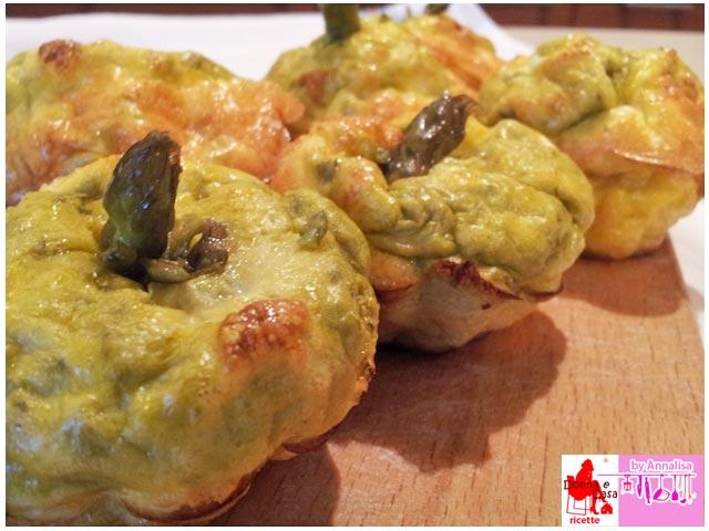 frittata muffin asparagi