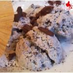 Coffee ice cream with chocolate drops