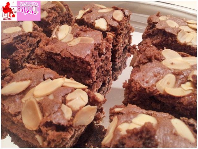 brownies cioccolato mandorle