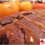 Plum cake cachi e cacao