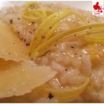 Risotto leek potatoes, with cave'S cheese