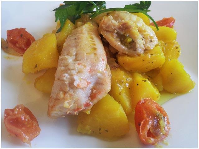 gallinella di mare patate zafferano 2