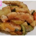 Bocconcini di pollo con verdurine
