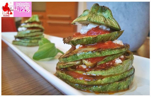 zucchine a torretta