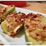 Stuffed Ligurian zucchini