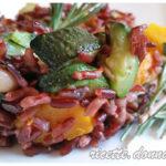 Insalata di riso rosso autunnale