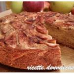Apple pie with buckwheat and cinnamon