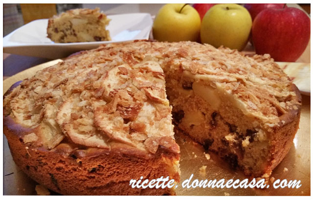 torta di mele uvetta farina di farro