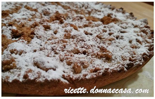 crostata farina di farro mele crema pasticcera