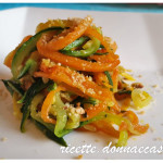 Spaghetti di verdure alle nocciole – vegan recipe