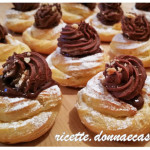 Zeppole di San Giuseppe al forno con crema al cioccolato